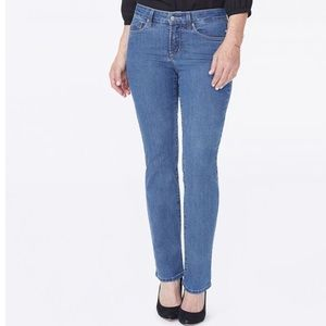 NYDJ Blue Marilyn Straight Jeans Not Your Daughter
